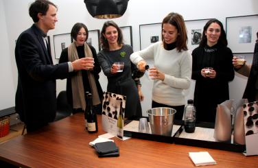 Nino Franco Prosecco being served at the reception following the program, A Conversation about Medardo Rosso and Cy Twombly, November 20, 2014. Photo by Luisa de Luca.